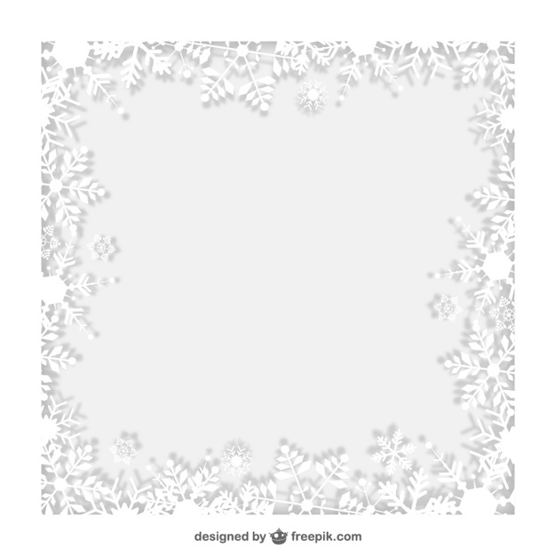 626x626 Winter Frame With White Snowflakes Vector Free Download