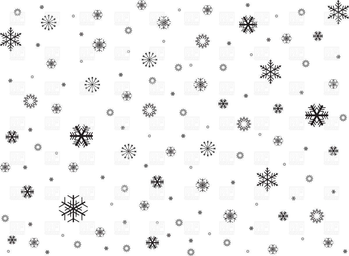 1200x880 Black Snowflakes Background Vector Image Vector Artwork Of