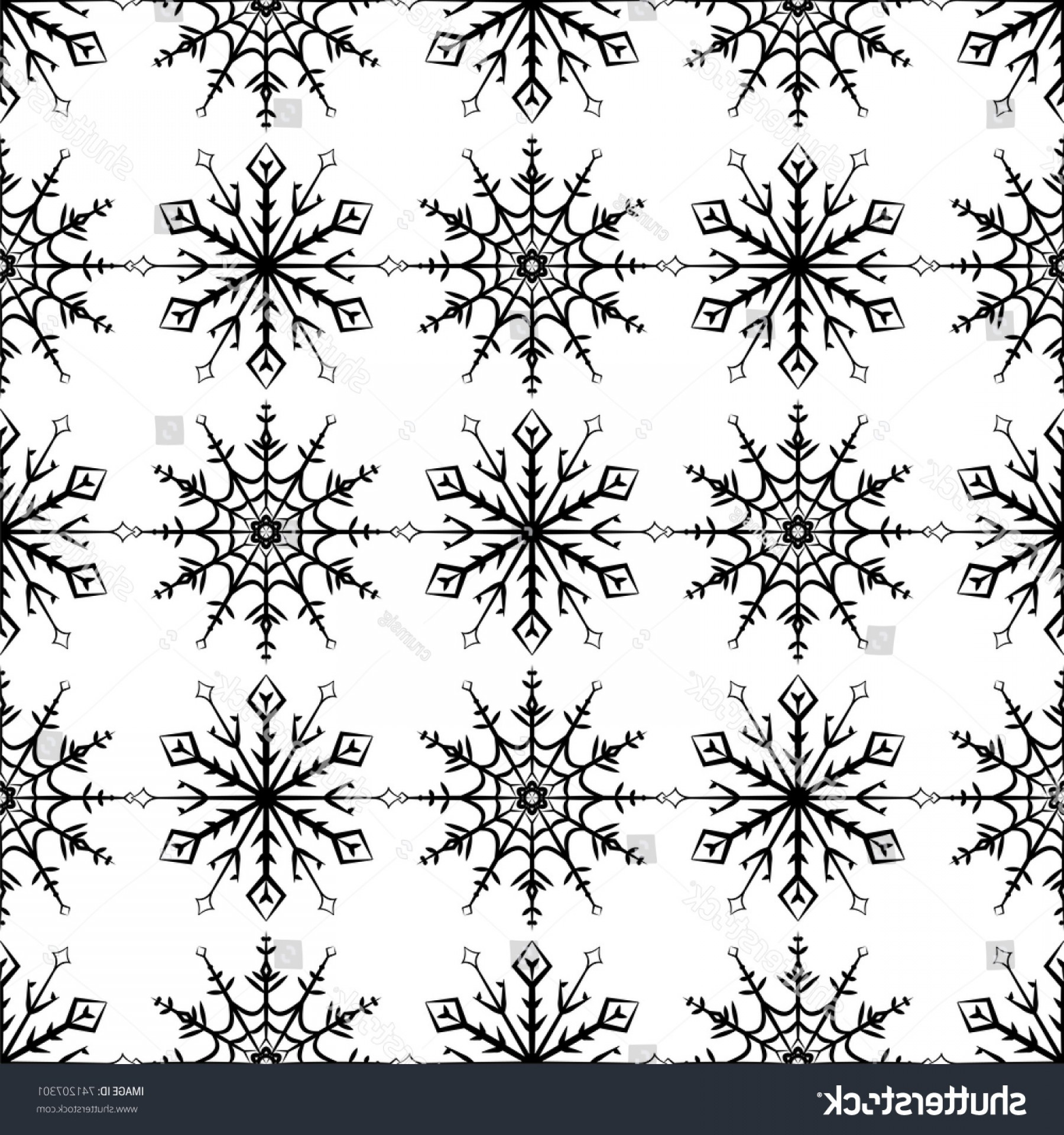 1800x1920 Christmas Snowflakes Vector Pattern Black White Geekchicpro