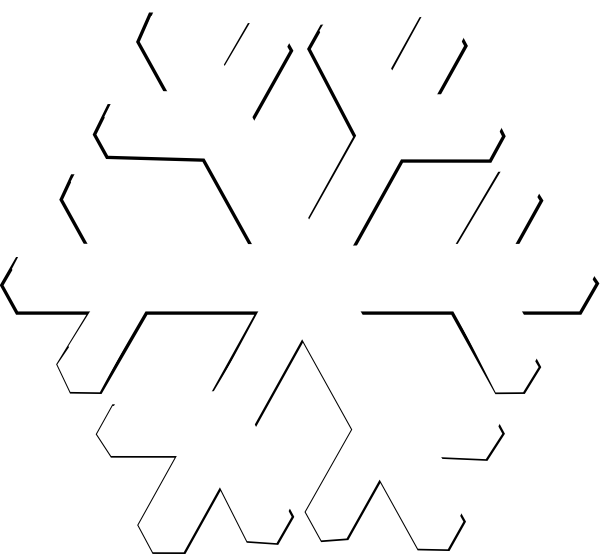 600x554 Collection Of Free Snowflakes Vector Basic. Download On Ubisafe