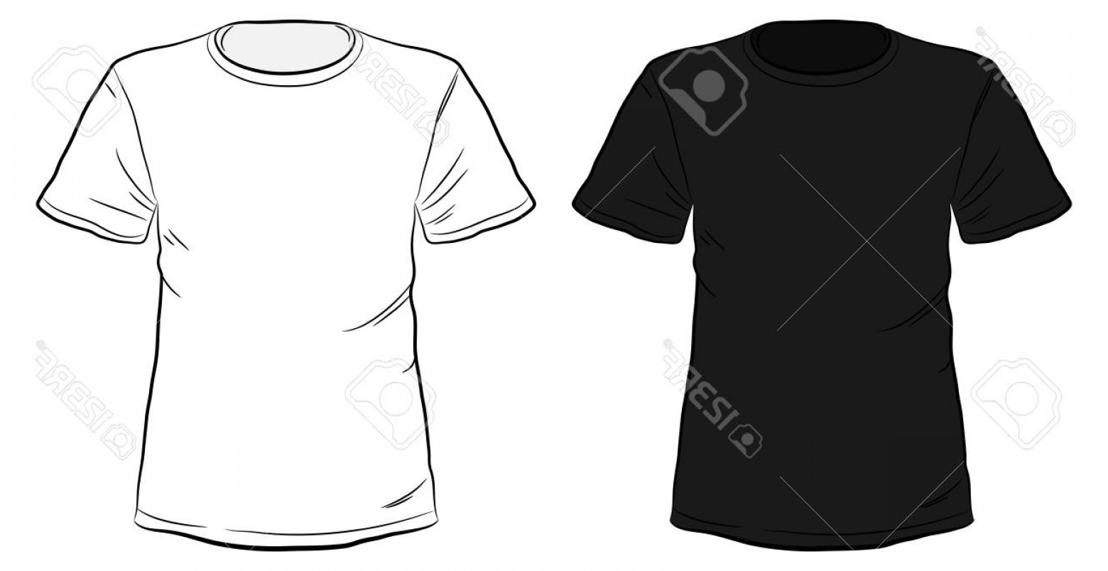 1560x804 Photostock Vector Black And White Hand Drawn T Shirts Vector