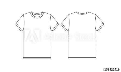 500x300 White T Shirt Vector Template Mockup Illustration