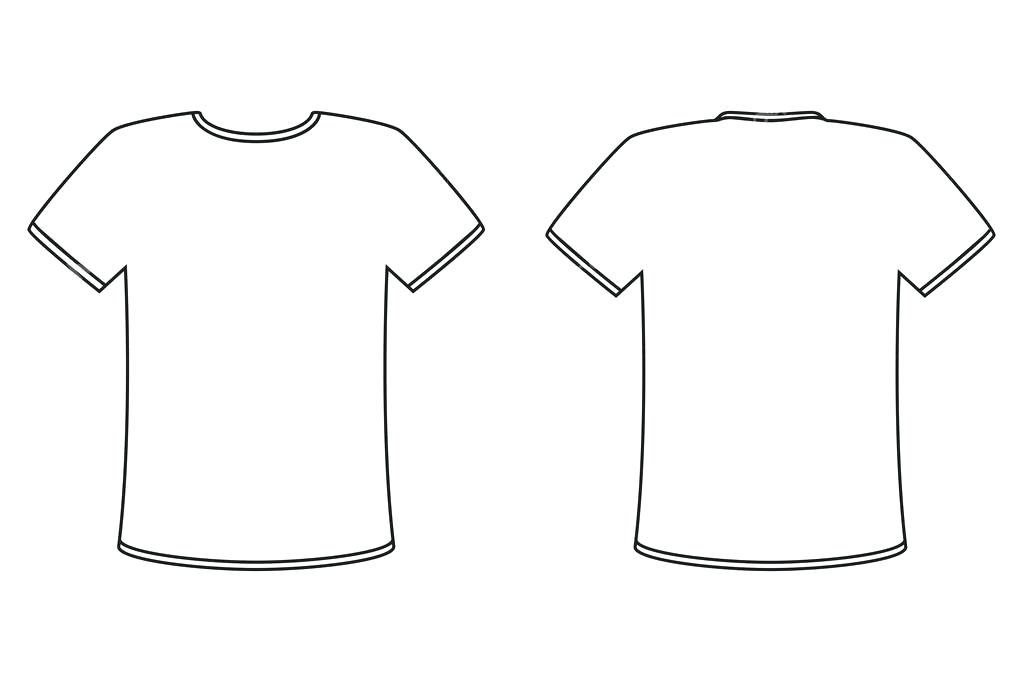1023x682 Blank T Shirt Template Front And Back Side On A White Background