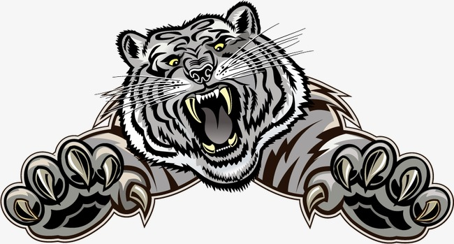 650x349 Punk Style White Tiger Prey, Tiger Vector, Tiger Clipart, Punk Png