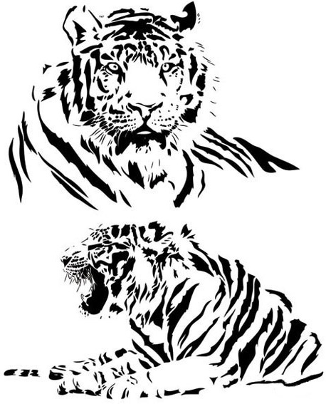 458x567 Both Black And White Tiger Vector Free Vector In Encapsulated