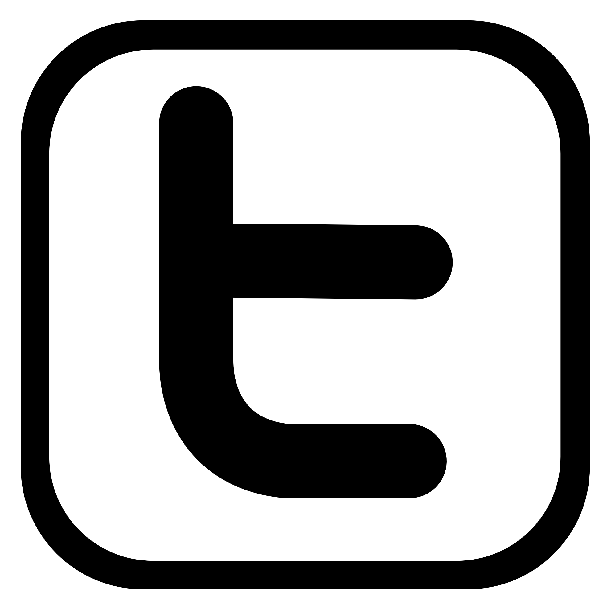 1969x1969 17 Black And White Twitter Icon Images