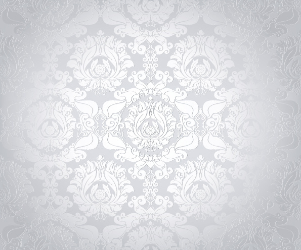 595x496 Bright White Floral Vector Backgrounds Set Free Vector In