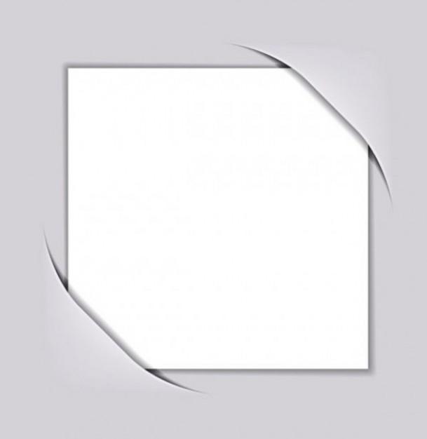 609x626 Album Corner Pocket White Vector
