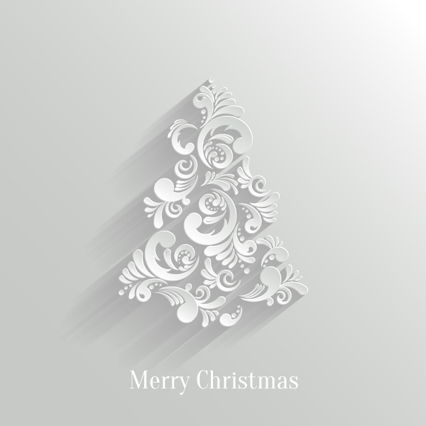 600x600 Paper Floral White Christmas Backgrounds Vector Free Vector In