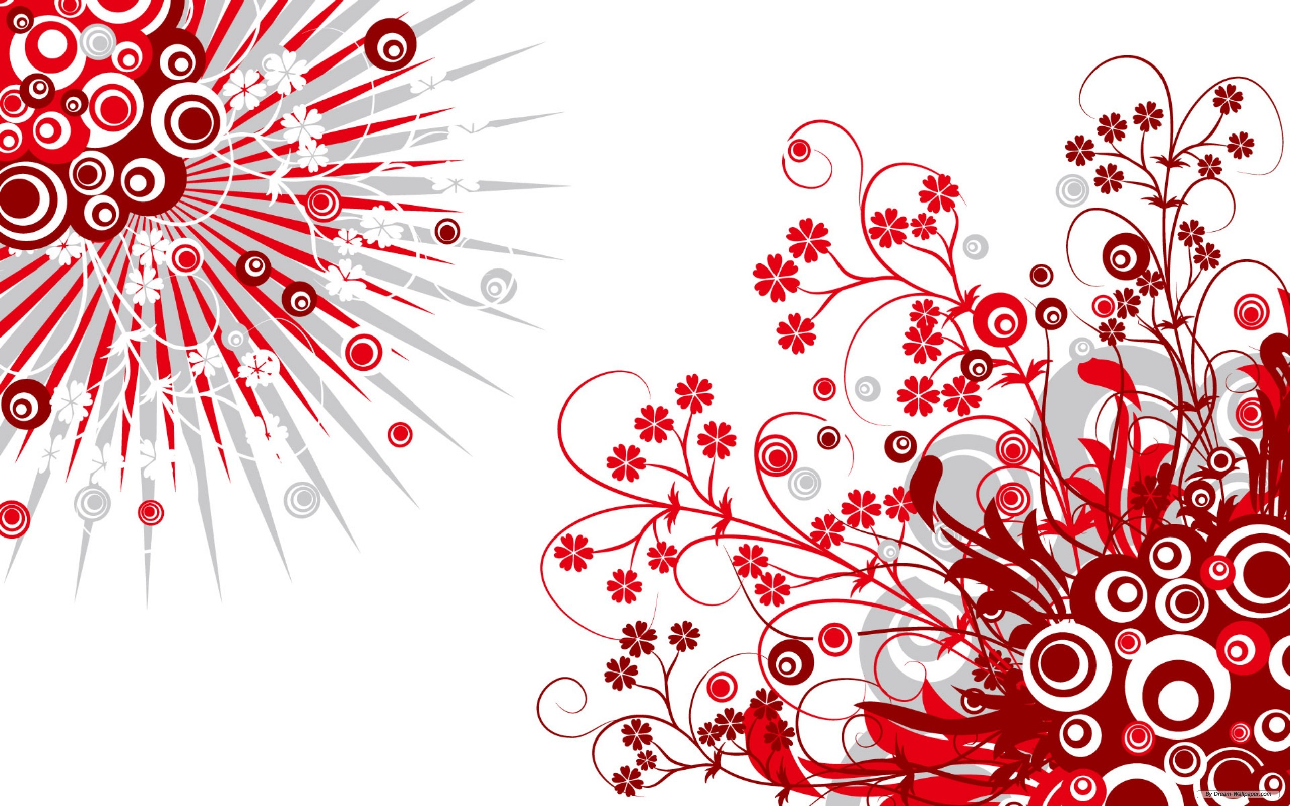 2560x1600 Red White Vintage Vector Background