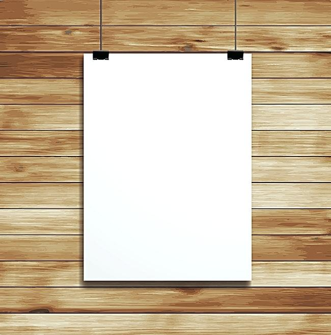 650x657 Hanging Whiteboard Vector Wood Hanging Demo Board Background