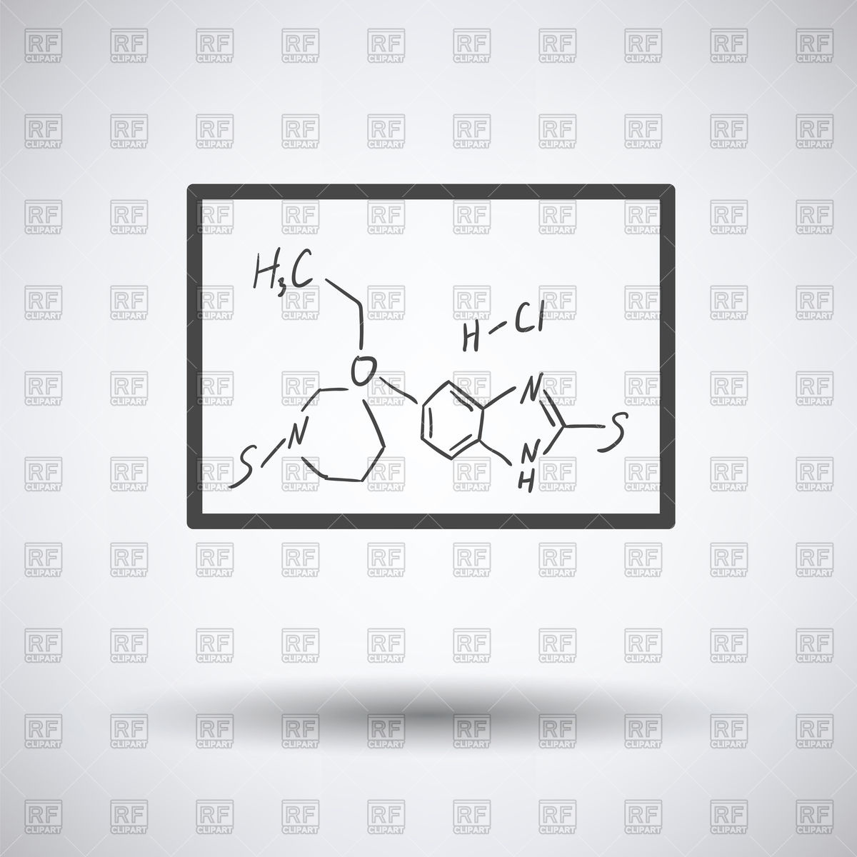1200x1200 Icon Of Chemistry Formula On Classroom Whiteboard Vector Image