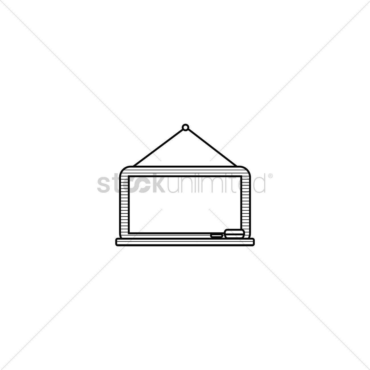 1300x1300 Whiteboard Vector Image