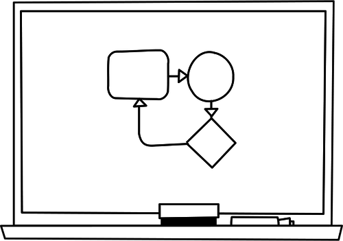 500x351 Whiteboard Vector Graphics Public Domain Vectors