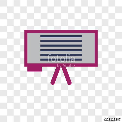 500x500 Whiteboard Vector Icon Isolated On Transparent Background
