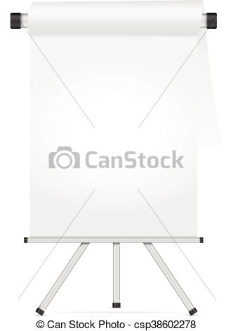 332x470 Whiteboard With Tripod On A White Background.