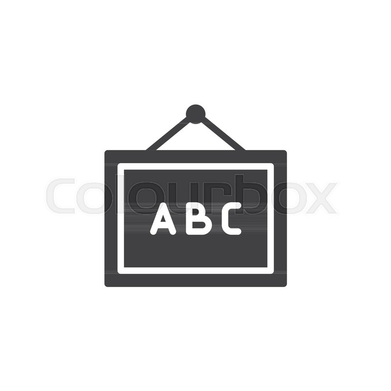 800x800 Abc Whiteboard Vector Icon. Filled Flat Sign For Mobile Concept
