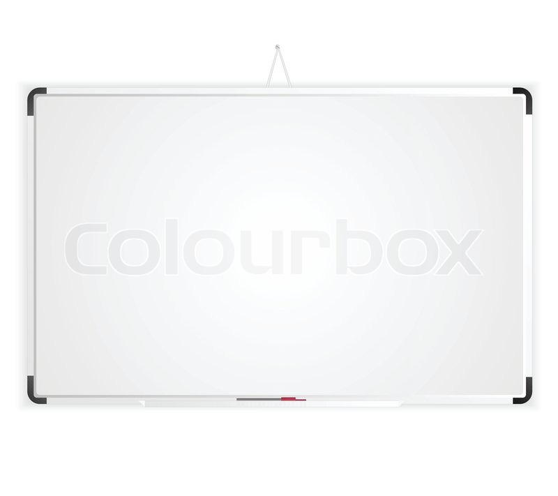800x711 Blank Space Whiteboard Graphic Vector Eps 10 Stock Vector