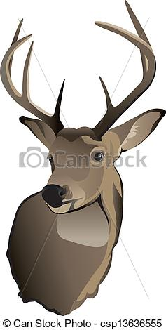 237x470 Trophy Whitetail Deer Buck. A Shoulder Mount Of A Trophy