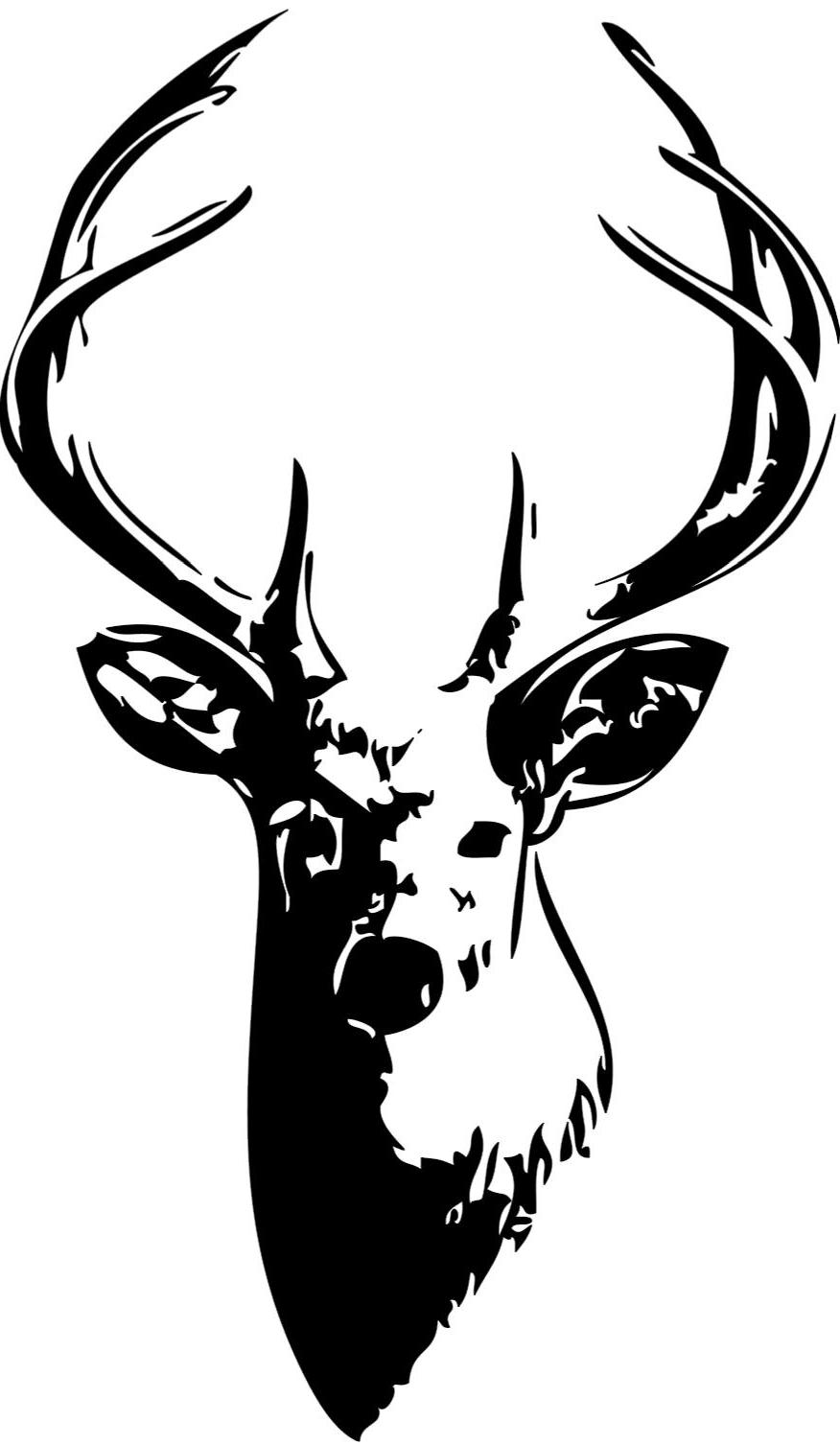 876x1507 Unique Ssckull Clipart Deer Head File Free