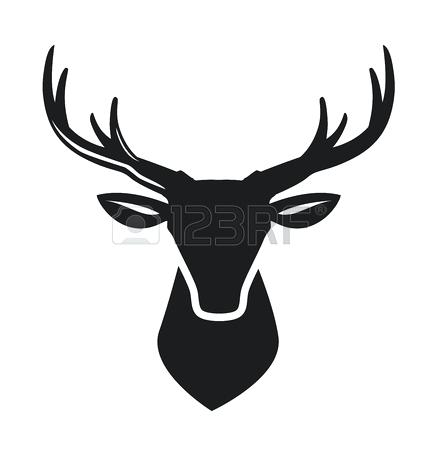 437x450 Deer Head A Profile Of A Whitetail Deer Buck Isolated On White