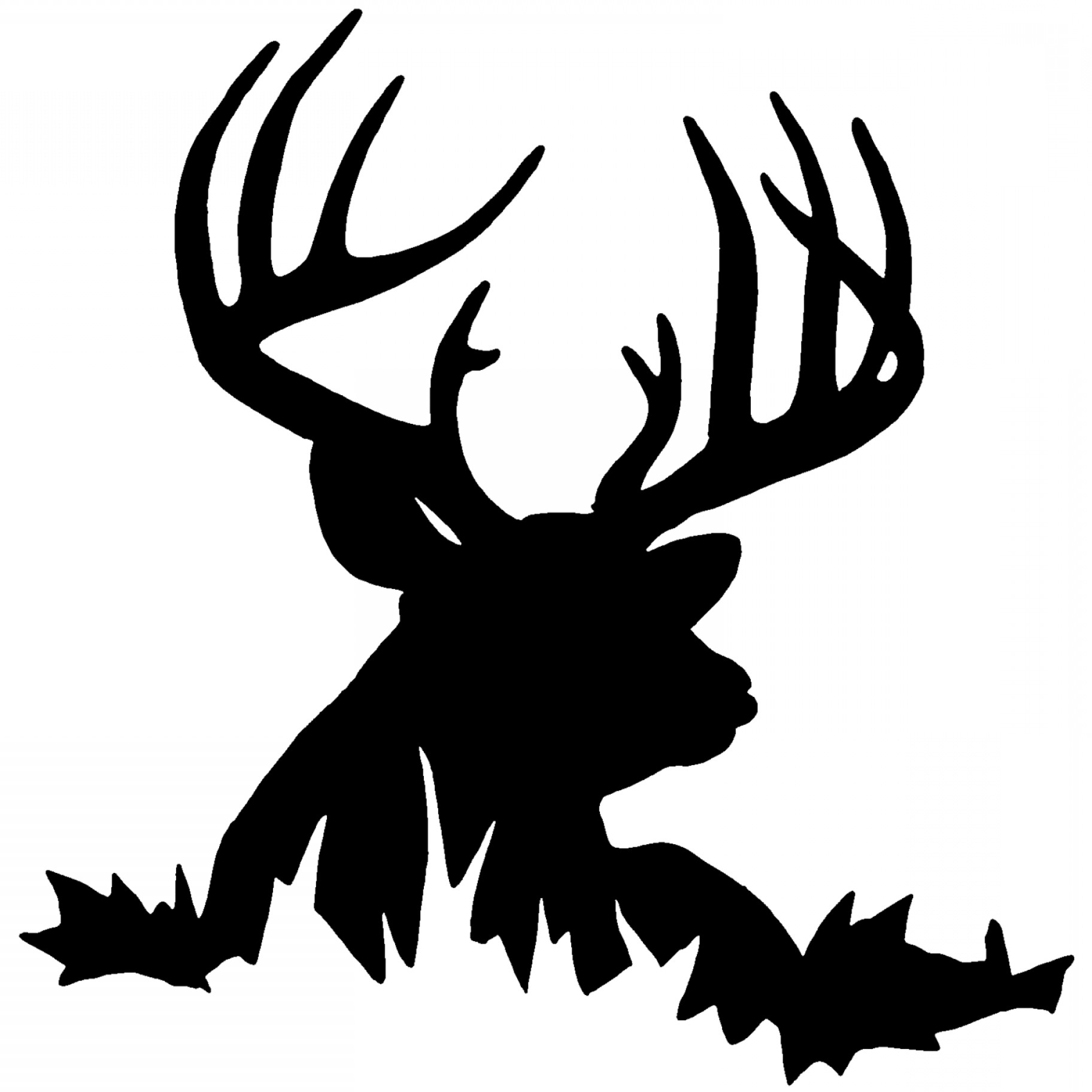 1824x1824 Best Hd Whitetail Deer Silhouette Vector File Free Createmepink
