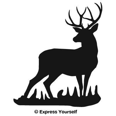 400x400 Buck Clipart Whitetail Deer