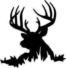 220x225 Deer Buck Decal Stf 12 Window Graphic, Whitetail Vinyl Hunting