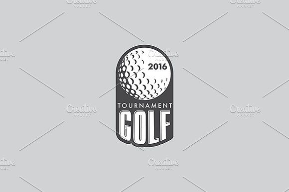 580x386 Golf Vector Logo Template By Urazovsky Design On @creativemarket