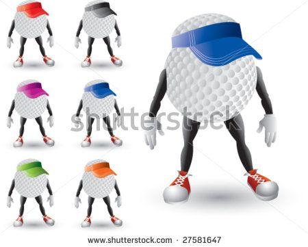 450x361 Cartoon Golf Balls With Hats Stock Vector 27581647 Shutterstock