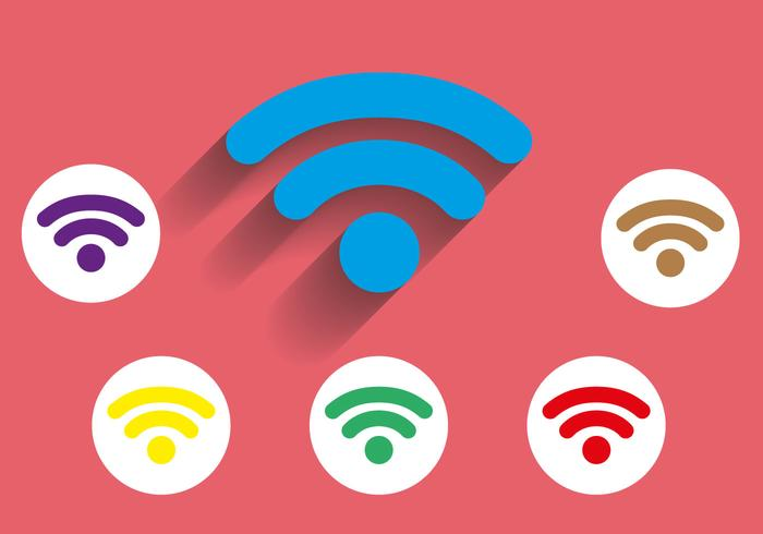 700x490 Free Wifi Icon Long Shadow Vector