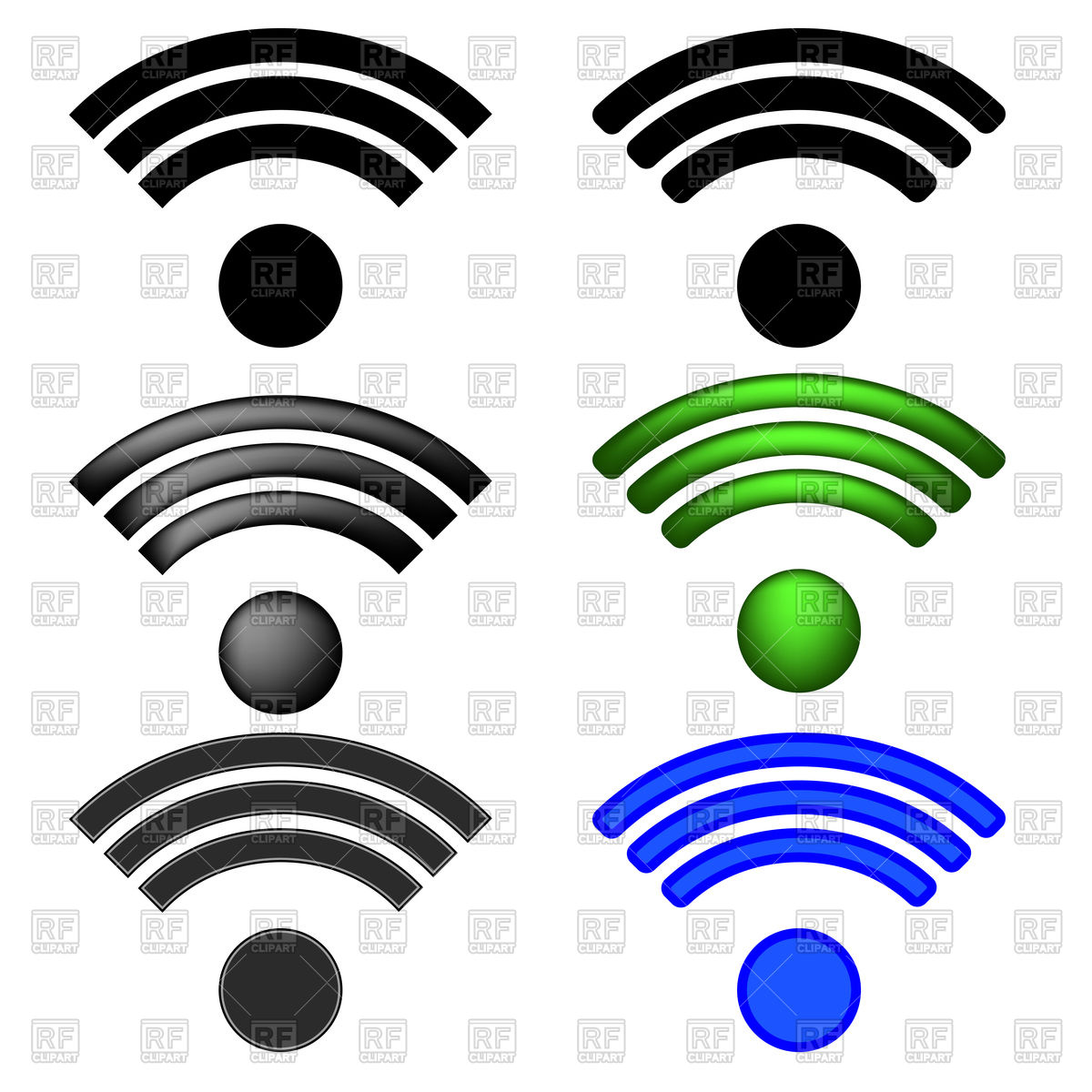 1200x1200 Set Of Wifi Icons Vector Image Vector Artwork Of Signs, Symbols