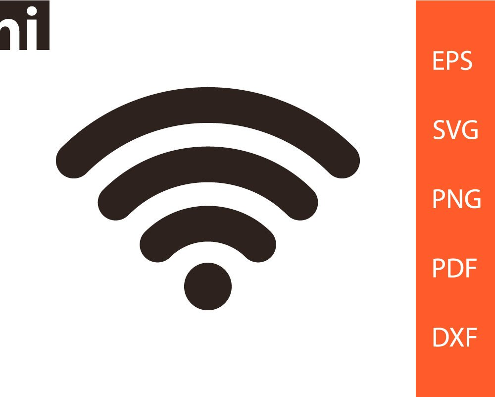 1000x801 Wifi Svg Wifi Clipart Wireless Internet Sign Wifi Icon Etsy