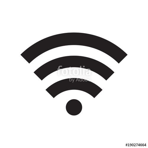 500x500 Wifi Icon Vector Illustration. Free Royalty Images. Stock Image