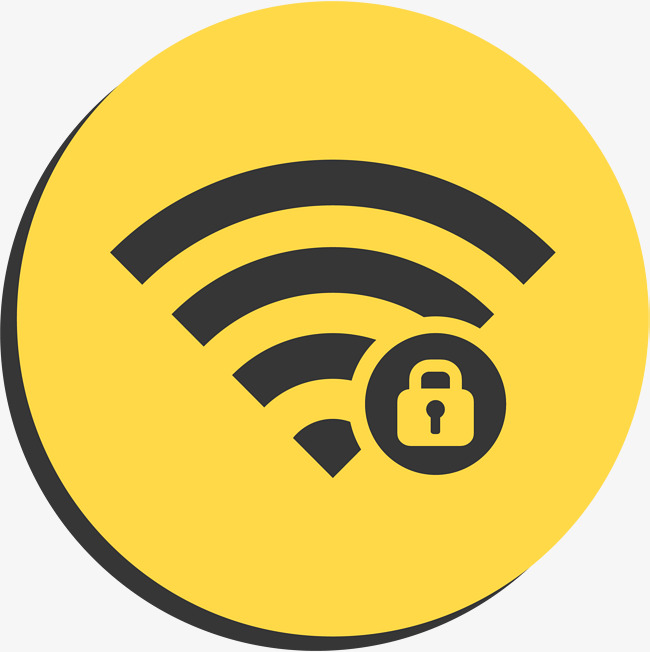 650x652 Yellow Round Wifi Logo, Vector Png, Wireless Network, Free Wifi