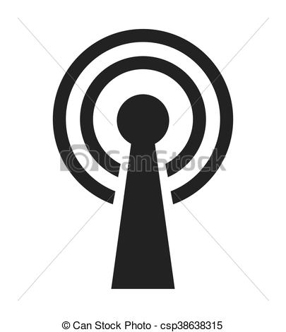 405x470 Wifi Waves Signal Icon Vector Isolated Graphic.