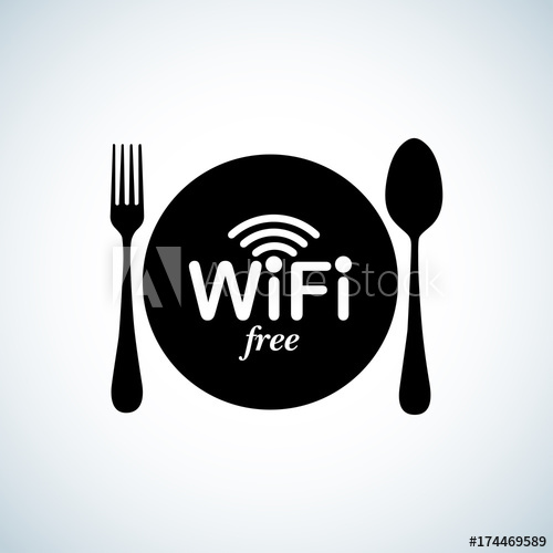 500x500 Wifi Zone Sticker. Free Wifi Signal Vector Signs. Wifi Hotspot