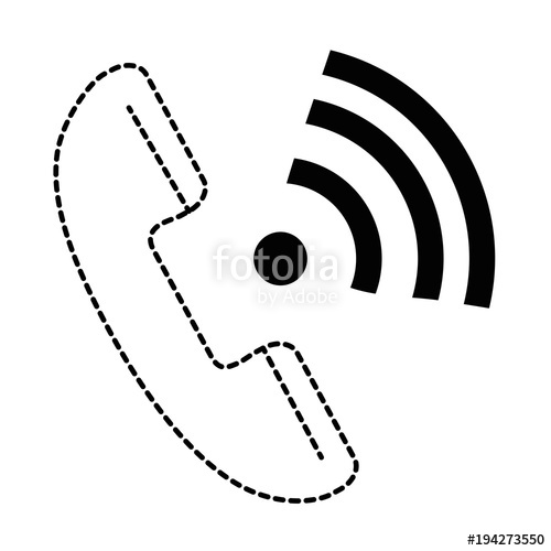 500x500 Phone Service With Wifi Signal Vector Illustration Design Stock