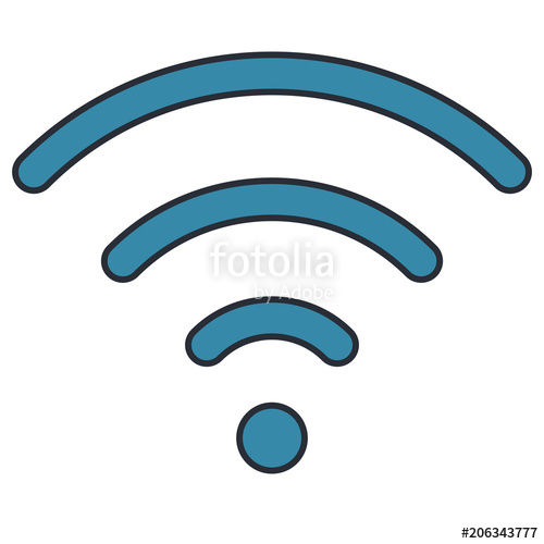 500x500 Waves Wifi Signal Area Vector Illustration Design Stock Image And