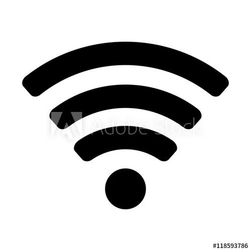500x500 Wifi Signal Wave Connection Network Web Technology Internet Vector
