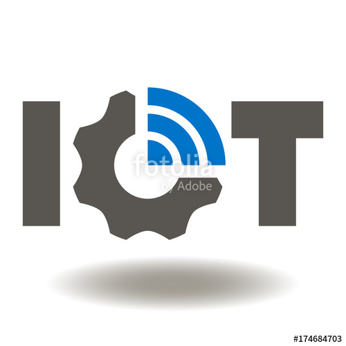 500x500 Iot Gear Wifi Icon Vector. Internet Of Things Service Illustration