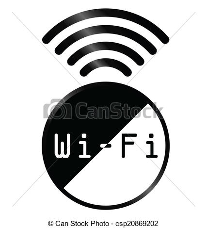 427x470 Monochrome Wifi Symbol Sign Isolated On White Background Vector