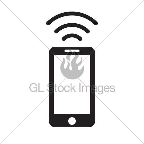 500x500 Phone Wifi Icon Vector Gl Stock Images