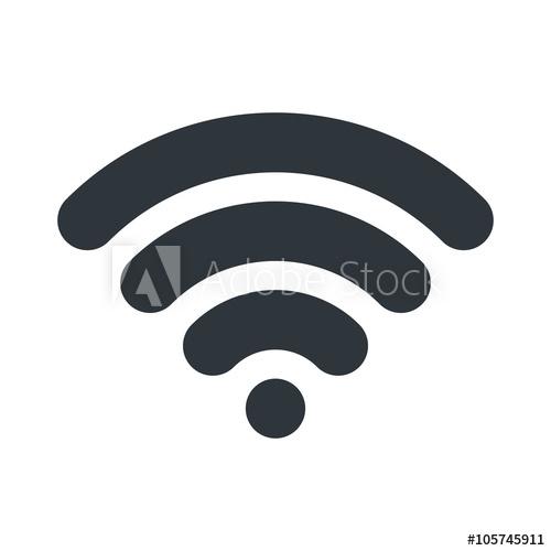 500x500 Wifi Icon. Signal Symbol. Vector Illustration Design.