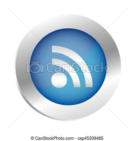 450x470 Color Circular Emblem With Wifi Icon Vector Illustration.