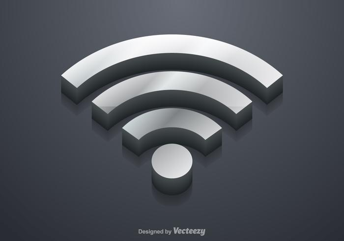 700x490 Free 3d Wifi Symbol Vector