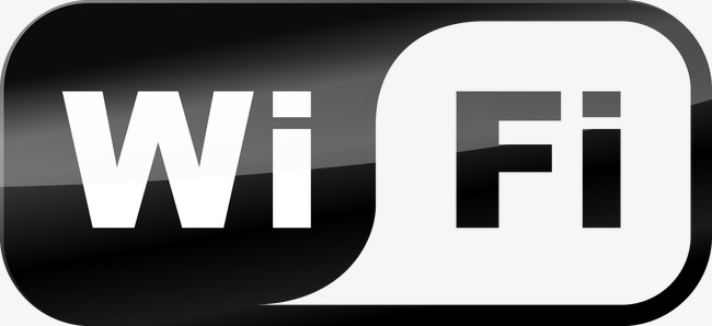 650x298 Vector Wifi Logo, Wifi Logo, Black And White, Vector Png And