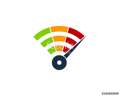 500x400 Wifi Speed Icon Logo Design Element Imagens E Vetores De Stock