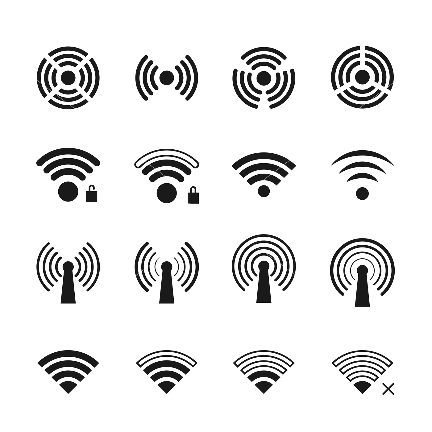 1400x1400 Wireless And Wifi Vector Icons By Microvector