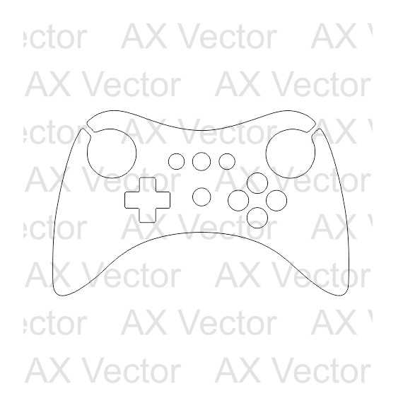 570x570 Nintendo Wii U Controller Vector Template